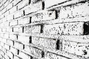 texturas de parede de tijolo branco e cinza foto