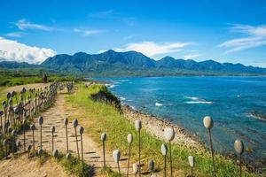 área de recreação de jialulan na costa leste de taitung, taiwan foto