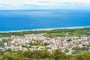 vista aérea de taimali, município de taitung, taiwan foto