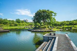 cenário do parque esportivo luodong em yilan, taiwan foto