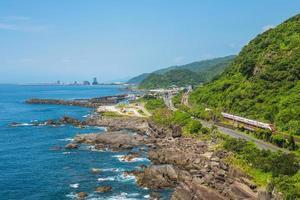cenário do parque das marés de Beiguan em Yilan, Taiwan foto
