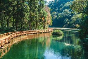 cenário do jardim botânico fushan em ilan, taiwan foto