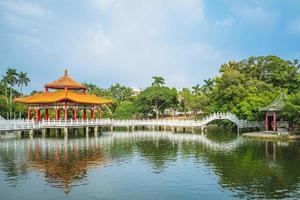 pavilhão nianci do parque tainan em tainan, taiwan foto