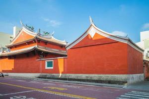 templo estadual do deus marcial em tainan, taiwan foto