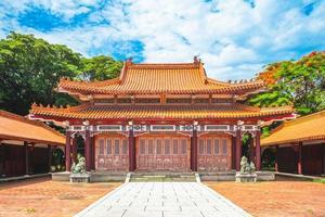 fachada do santuário dos mártires em tainan, taiwan foto
