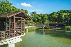 cenário do parque hsinchu na cidade de ssinchu, taiwan foto