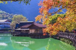 lagoa de madeira checheng, nantou, taiwan foto