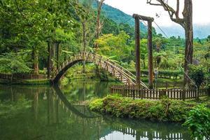 área recreativa da floresta xitou em nantou, taiwan foto