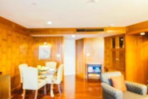 desfoque abstrato e interior desfocado da sala de estar foto