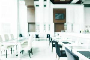 desfoque abstrato e decoração de luxo desfocada no interior do restaurante foto