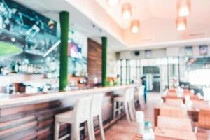 desfoque abstrato e café e restaurante desfocado foto