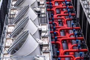 sistema de refrigeração de ar de um edifício foto
