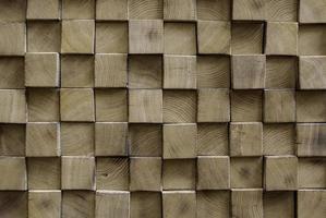 parede quadrada de madeira foto