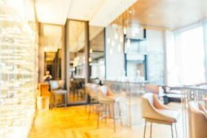 desfoque abstrato e interior desfocado do restaurante foto