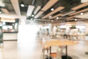 Resumo desfocar praça de alimentação em shopping para segundo plano foto