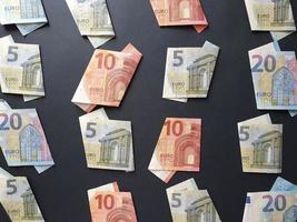 economia e negócios com dinheiro europeu foto
