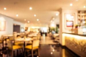 borrão abstrato interior de restaurante e café foto
