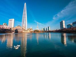 Lotte World Tower em Seoul City, Coreia do Sul foto