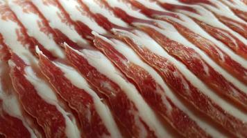 visão aproximada de bacon foto