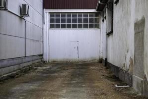 indústria de portas de metal foto