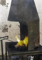 fogo na forja foto