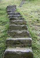 escada de pedra natural foto