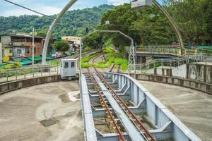 mesa giratória da linha de ramal neiwan em hsinchu, taiwan foto