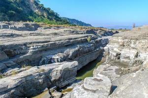 desfiladeiro do rio daan no condado de miaoli, taiwan foto