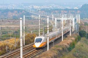ferrovia de alta velocidade de taiwan em taichung, taiwan foto