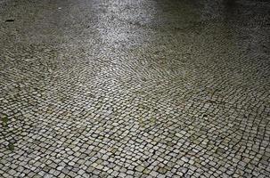 pedras de pavimentação no chão foto