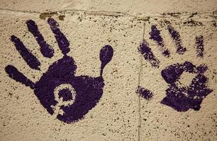 símbolo feminista na parede foto