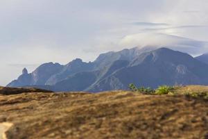 vista da trilha de pedras da tartaruga em Teresópolis foto