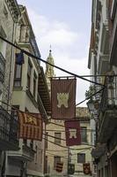 rua da cidade medieval foto