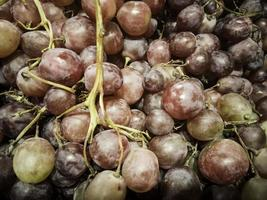 uvas no mercado foto