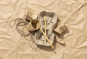 arranjo de diferentes objetos de lixo foto