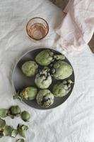 a composição da mesa de refeição saudável foto