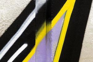 o fundo da parede pintado com spray foto