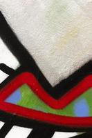 fundo de parede pintado com spray colorido foto