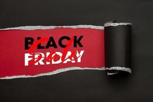 conceito de venda sexta-feira negra foto
