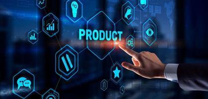 desenvolvimento conjunto de um novo produto. Internet de tecnologia de negócios. foto