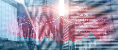 gráfico de negócios gráfico do mercado de ações foto