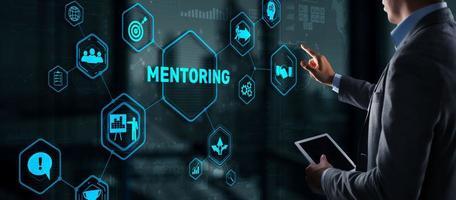 mentoring motivação coaching carreira conceito de tecnologia empresarial foto