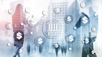 conceito de negócios do sistema de reserva federal fed sistema financeiro dos EUA foto