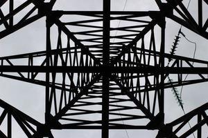 suporte de linhas de força. vista de baixo. foto