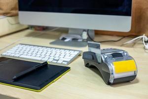 terminal de pagamento com tablet foto