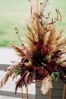 decoração de casamento com elementos naturais foto