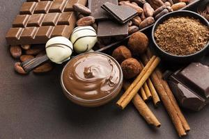 chocolate delicioso para barrar de perto foto