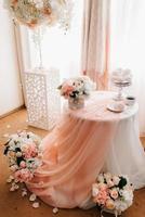 cappuccino no fundo de toalhas de mesa pintadas foto