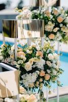 decoração de flores de casamento foto