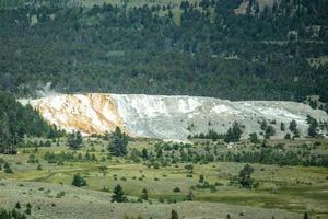gigantescas fontes termais no parque nacional de yellowstone. EUA foto